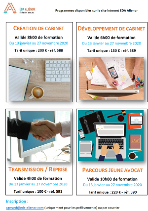 E-learning : 4 formations annuelles